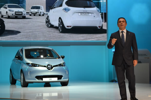Carlos GHOSN and the Renault ZOE