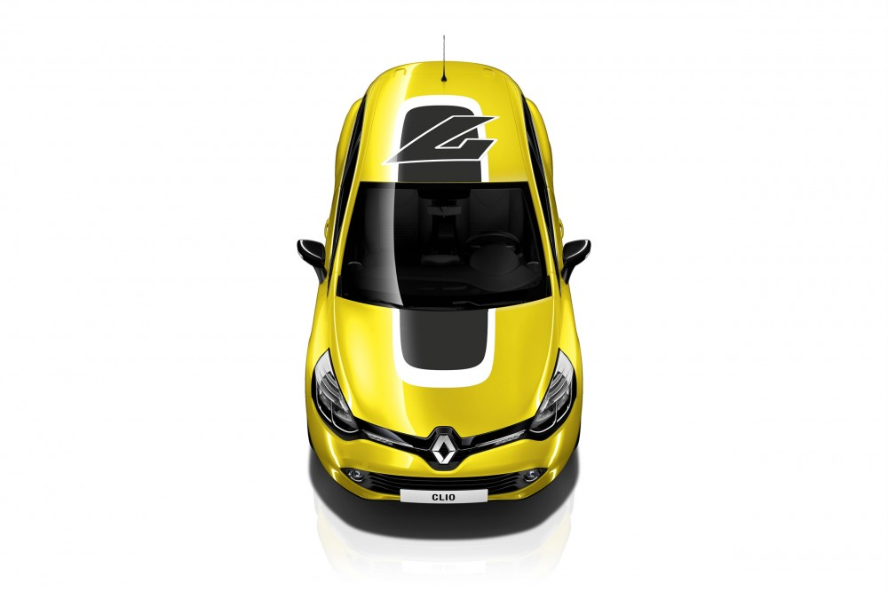 The new Clio in yellow, seen from above