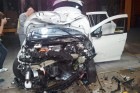 The impressive Renault ZOE after a frontal-impact crash test at 64km/h (40 mph)