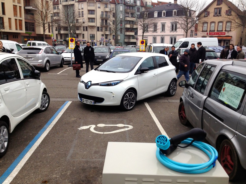 We used brand new charging stations in Strasbourg.