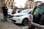 The charging trap is set on the front of the Renault ZOE.