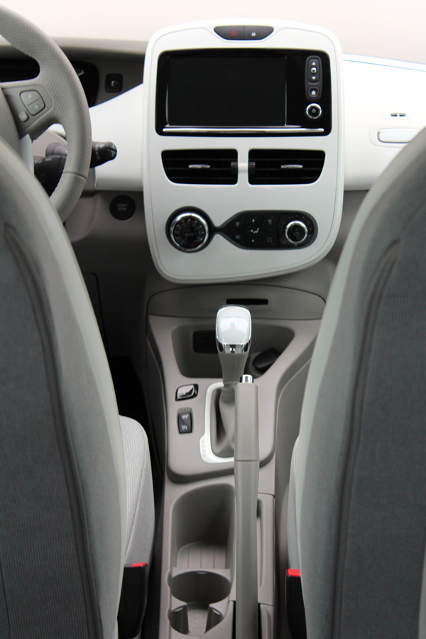 The Renault ZOE's gear lever.