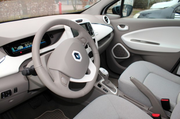 The Renault ZOE's bright interior