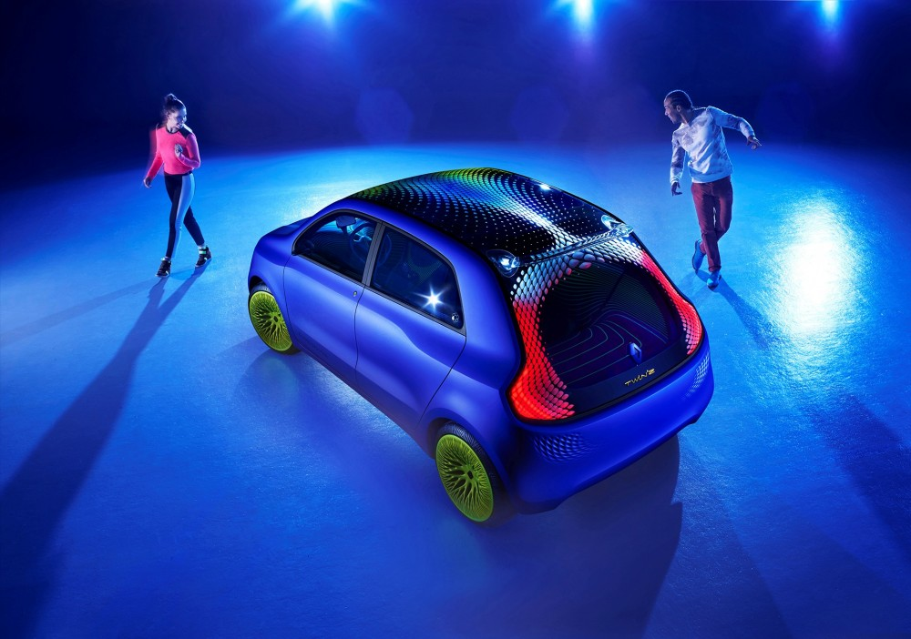 The Twin'Z concept is 100% electric