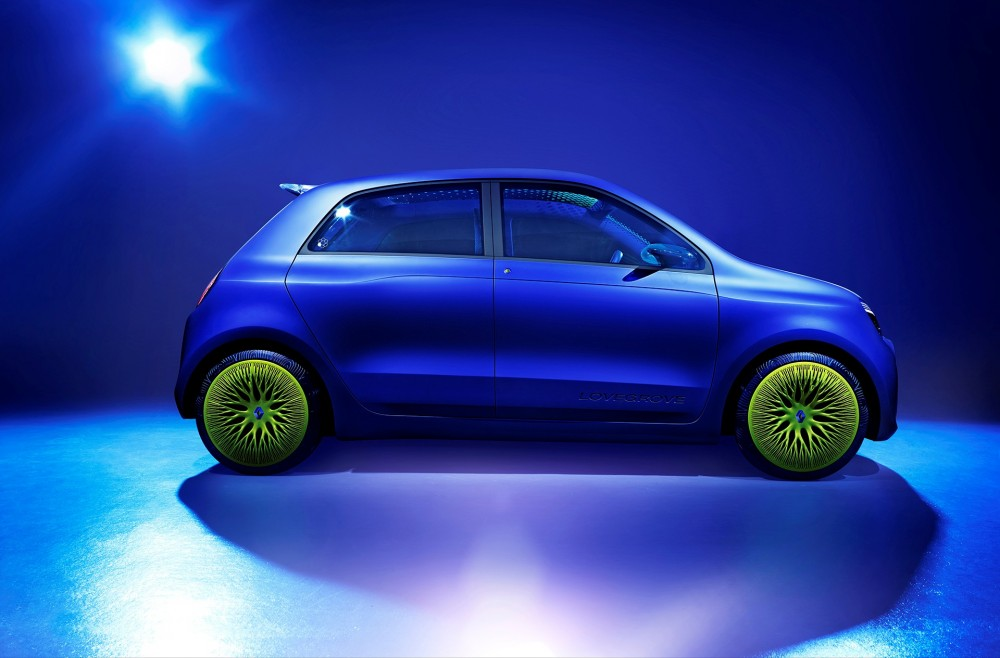 The Twin'Z concept's outlook is reminiscent of the Fiat 500