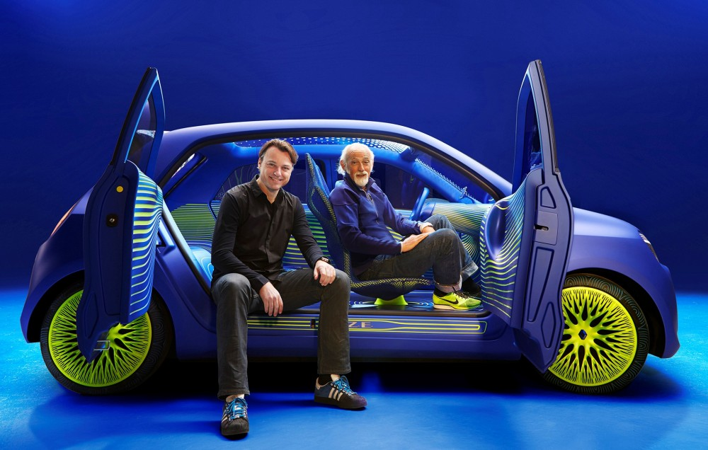 Renault Twin'Z with its designers