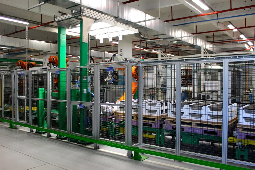 Production line for the Renault ZOE's batteries