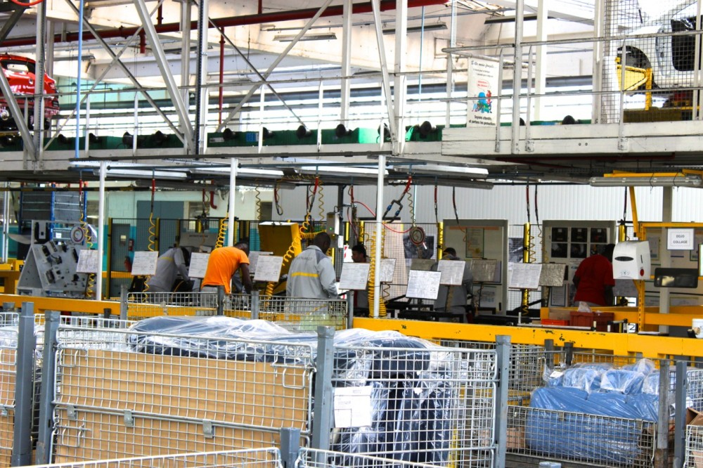 Where the ZOE's front seats are manufactured