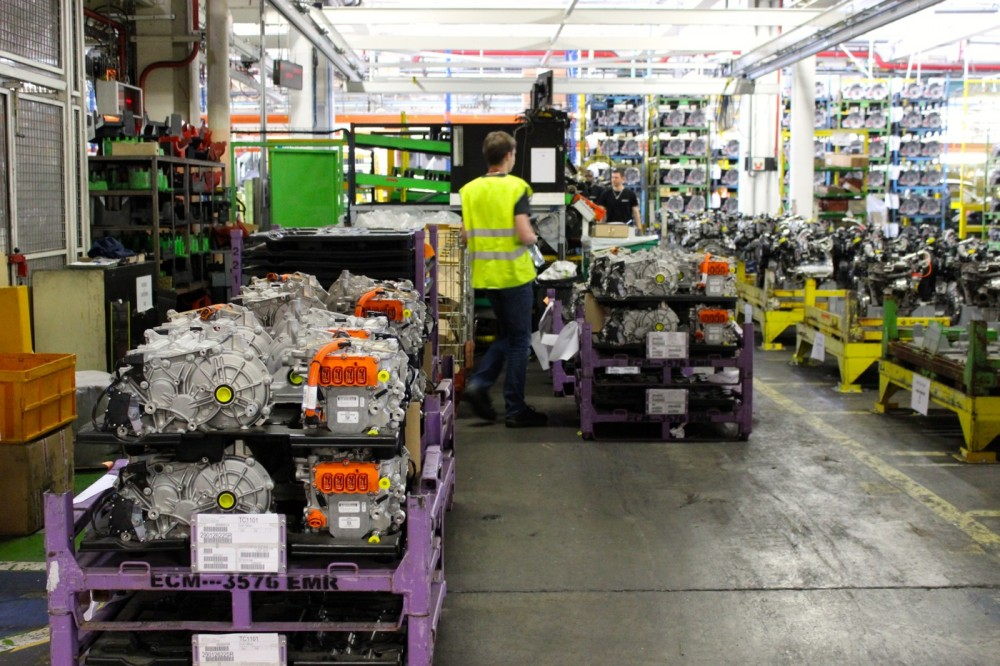 A stock of electrical engines for the Renault ZOE