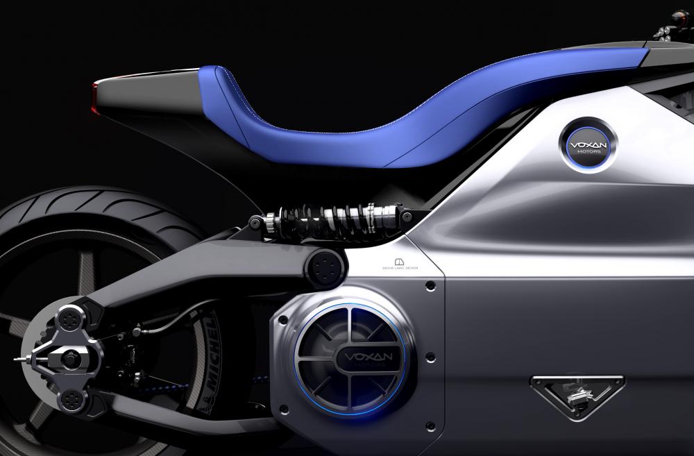 The massive design of the Voxan Wattman