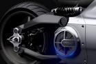 The rear wheel of the Voxan Wattman